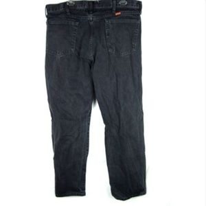Rustlers Jeans - Rustlers mens black straight leg relaxed fit jeans